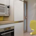 8-mobilier alb de bucatarie cu fronturi lucioase