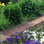 8-model de alee de gradina confectionata din bucati de lemn