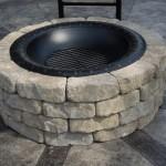 8-model foc de tabara decorativ de gradina din piatra si farfurie metal