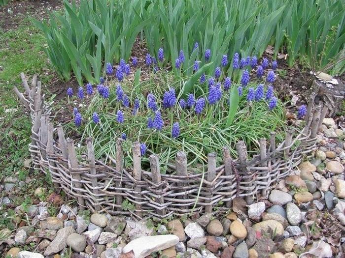 8-model gardulet rustic scund rond flori gradina