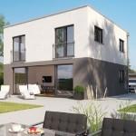 8-model minimalist cu acoperis tip terasa casa doua niveluri prefaricata Icon Haus