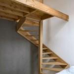 8-model scara interioara spirala compacta din lemn interior casa mica
