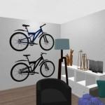 8-montare biciclete pe perete living apartament Aida