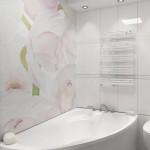 8-mozaic cu imprimeu floral decor perete baie moderna
