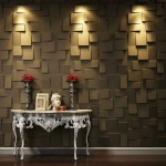 8-panou decorativ in relief 3D design modern casa