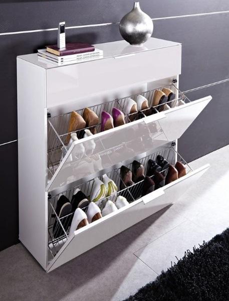 8-pantofar compact pentru 16 perechi de pantofi