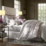 8-pat drmitor decorat cu 3 seturi de perne si asternuturi gri