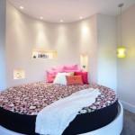 8-pat rotund cu saltea rotunda amenajare dormitor matrimonial