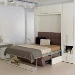 8-patul rabatabil din mobila de living deschis