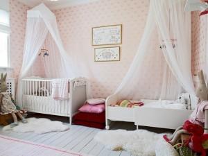 8-patuturile din camera copiilor decorate cu baldachin