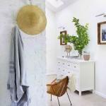 8-perete caramida bruta vopsita in alb interior scadinav casa taraneasca Polonia