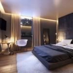 8-perete de accent gri antracit decor dormitor modern frumos