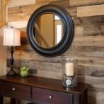 8-perete de accent hol finisat cu bucati de lemn reciclat Artis Wall