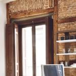 8-perete din caramida accent vintage garsoniera moderna 35 mp