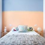 8-perete dormitor matrimonial zugravit in bleu si somon