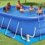 8-piscina gonflabila ovala cu filtre curatare apa si scarita acces