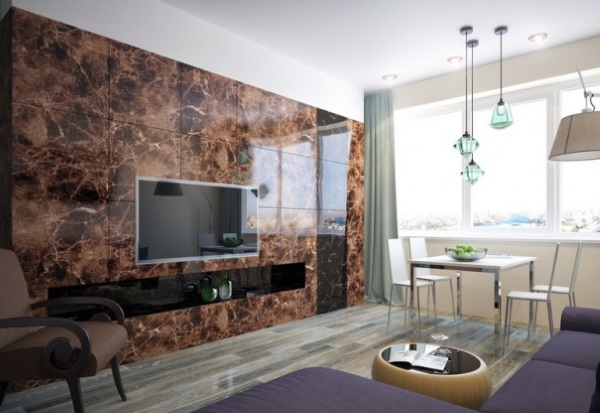 8-placi de marmura decor perete living modern minimalist