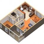 8-randare 3D casa mica din emn pentru parinti batrani Birchwood cottage