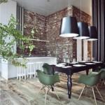8-scaune retro verde masliniu decor living stil industrial