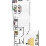 8-schita plan compartimentare apartament 45 mp