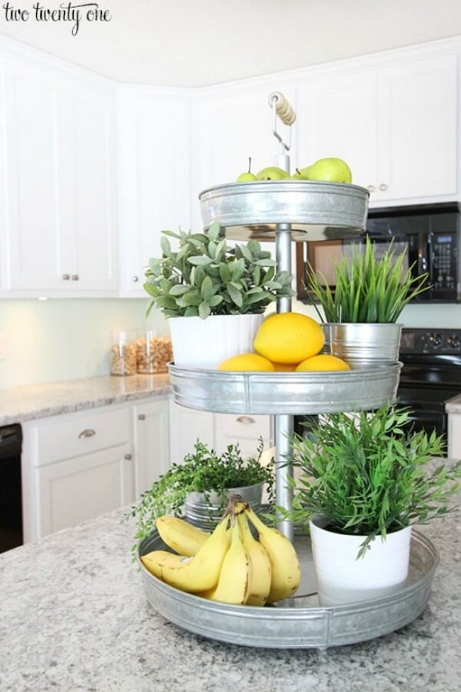 suport etajat plante aromatice fructe bucatarie