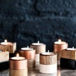 8-suporturi din lemn pentru lumanari
