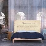 8-tablie de pat decorativa imprimeu versuri scrise de mana Noyo Home