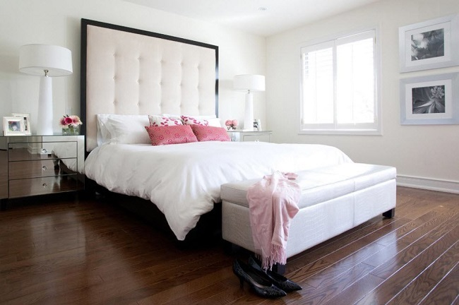 8-tablie de pat tapitata mare decor perete dormitor modern
