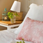 8-taburet pe post de noptiera pat dormitor stil Provence