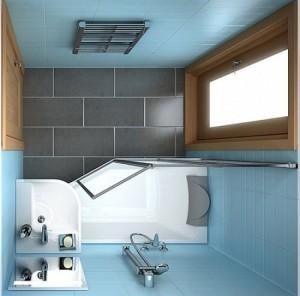 8-usa baie cu suprafata vitrata mare pentru sporirea luminozitatii