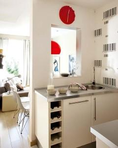8-vedere din bucatarie sre livingul apartamentului cu 3 camere