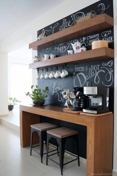 vopsea neagra tabla scris decor perete masa bucatarie