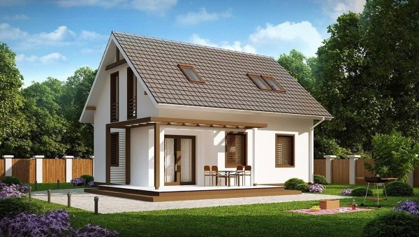 9-Proiect casa mica cu mansarda suprafata totala 91 mp cu 3 sau 4 dormitoare