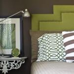 9-accente verde olive decor dormitor maro ciocolatiu