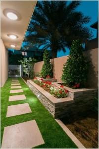9-alee gradina cu pavele si gazon artificial cu iarba sintetica
