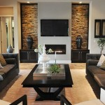 9-amenajare living cu piatra naturala montata in lateralele televizorului