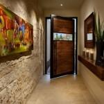 9-asortare si combinare piatra naturala cu lemn masiv amenajare hol intrare