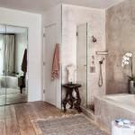 9-baie matrimoniala cu cada din beton slefuit casa actor Patrick Dempsey