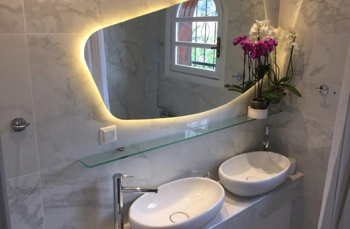 baie matrimoniala dubla lavoare ovale