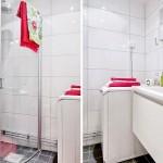 9-baie moderna decorata in alb si negru