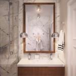 9-baie moderna pereti placati cu marmura