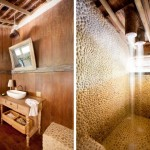 9-baie placata cu piatra casuta de lemn casa de vacanta brazilia