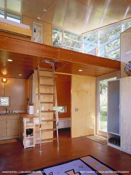 9-baie si bucatarie proiectate sub loft interior casa moderna 45 mp locuibili