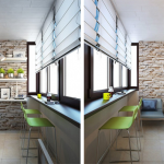 9-balcon transformat in loc de luat masa sau loc pentru micul dejun