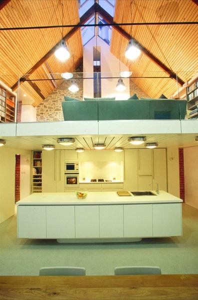 9-balustrada din sticla securizata mezanin casa moderna