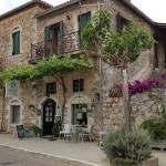 9-bougainvillea si vita de vie decor casa din piatra Kardamili Grecia