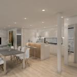 9-bucatarie cu living si dining open space cada modulara Coodo 64