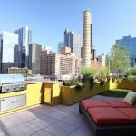 9-bucatarie de vara pe terasa de pe acoperisul unui bloc