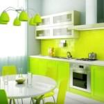 9-bucatarie moderna finisata in alb si vernil