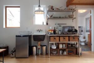 9-bucatarie open space fost garaj transformat in casa